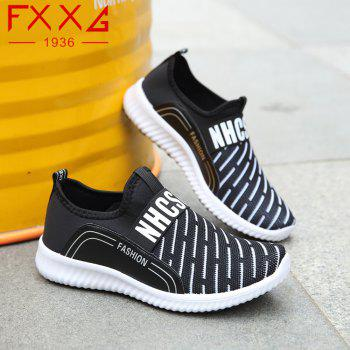 Sports Casual Shoes with Net Cloth - BLACK 38