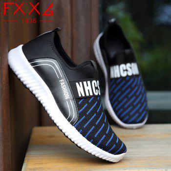 Sports Casual Shoes with Net Cloth - BLUE 38