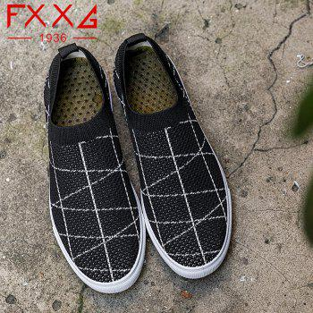 Fashion Shoes with Net Cloth - BLACK 38