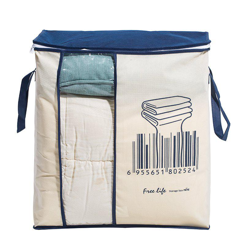 Non-Woven Family Save Space Bed Under Closet Storage Box Clothes Divider Quilt Bag Holder Organizer - BLUE