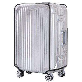 Waterproof Dust Proof Rain Clear Travel Luggage Suitcase Cover - TRANSPARENT 24 INCH