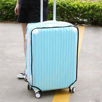 Waterproof Dust Proof Rain Clear Travel Luggage Suitcase Cover - TRANSPARENT 26 INCH