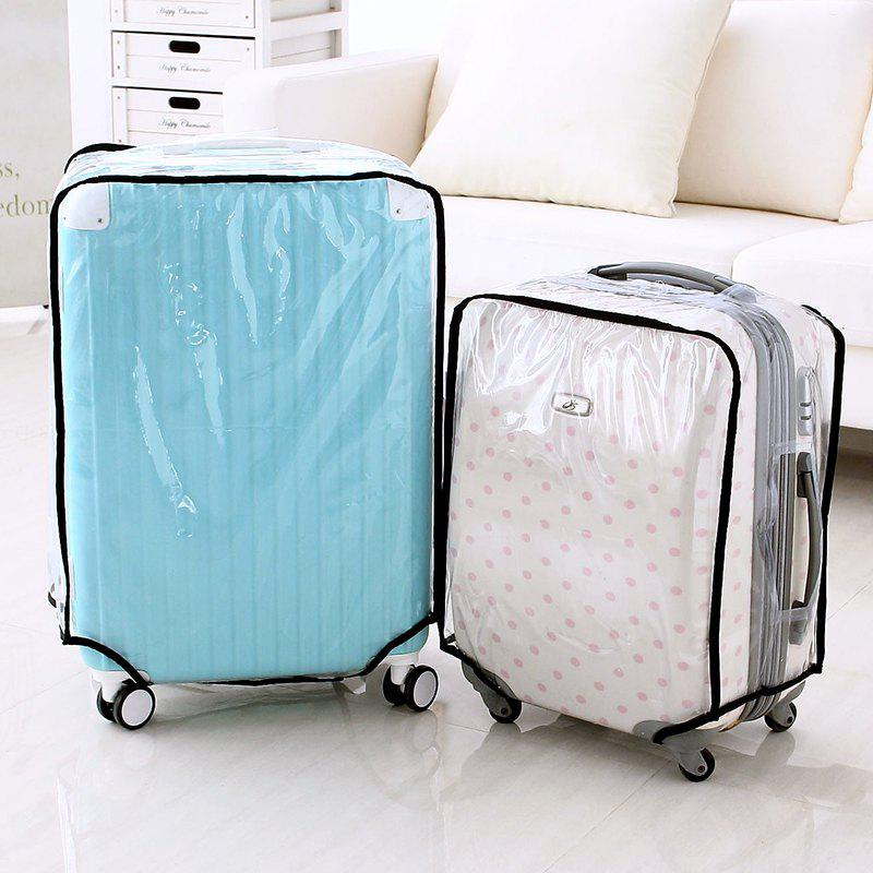 Waterproof Dust Proof Rain Clear Travel Luggage Suitcase Cover - TRANSPARENT 18 INCH