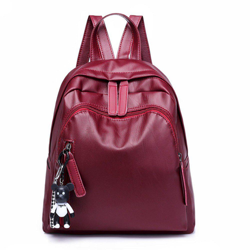 Backpack Small Bear Hangs Women's Casual Bag 984 - RED