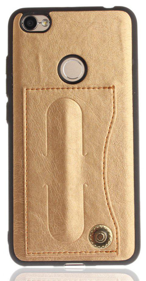 Case Cover for Xiaomi Redmi Note 5A / Note 5A Prime Luxury PU Leather with Stand and Card Slots - GOLDEN