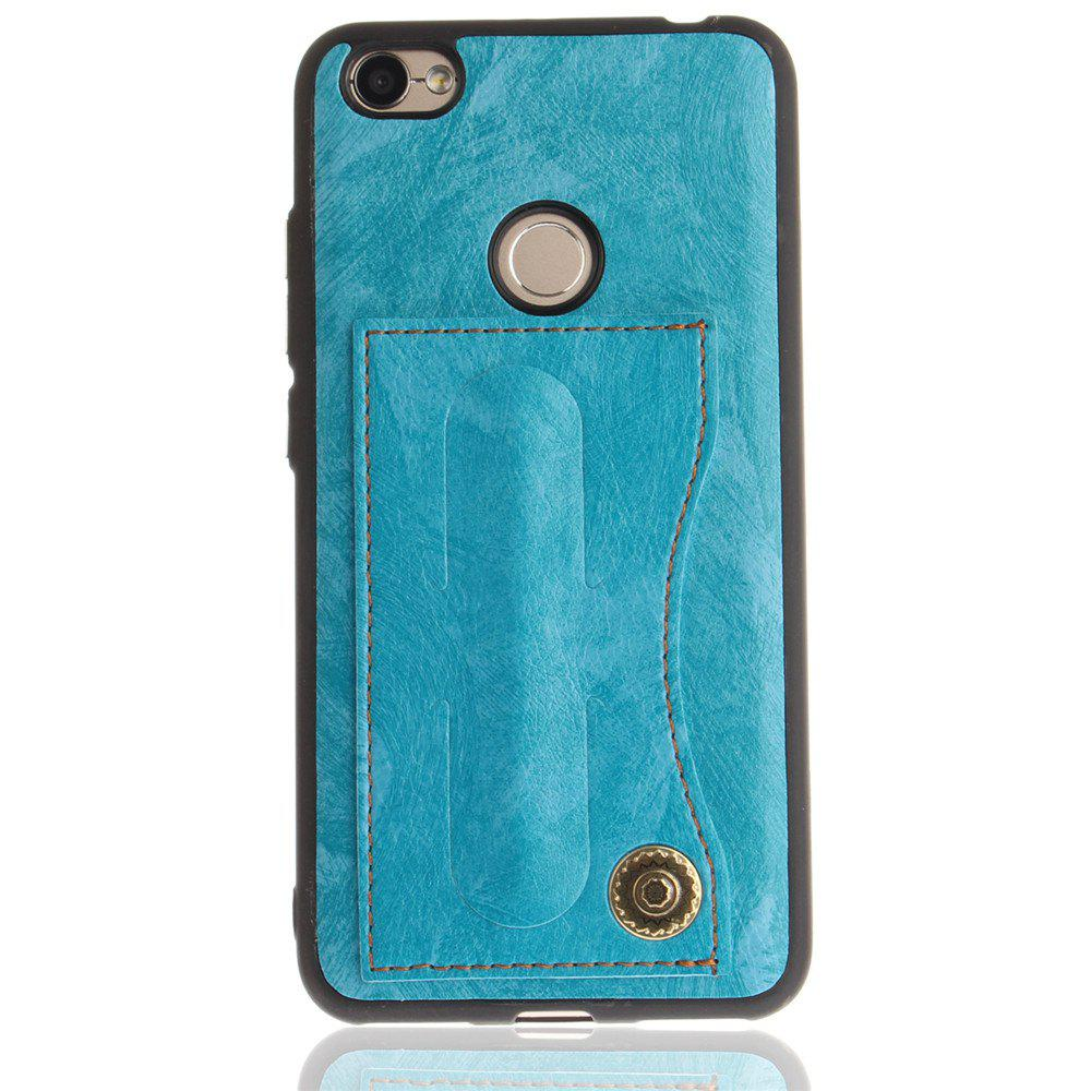 Case Cover for Xiaomi Redmi Note 5A / Note 5A Prime Luxury PU Leather with Stand and Card Slots - WINDSOR BLUE