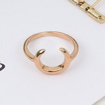 Arc Horn Alloy Ring Jewelry Accessories - GOLDEN 8