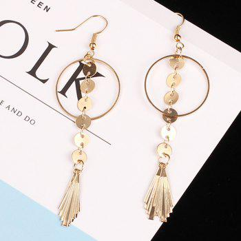 Original Leaves Minimalist Geometric Studs Large Circle Chain Tassel Earrings Jewelry Accessories A Paragraph - GOLDEN