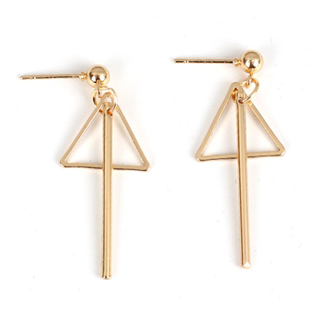2018 New Wild Creative Geometric Triangle Earrings Accessories - GOLDEN