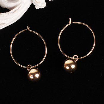 New Personality Earrings Geometry Large Circle Pendant Accessories - GOLDEN