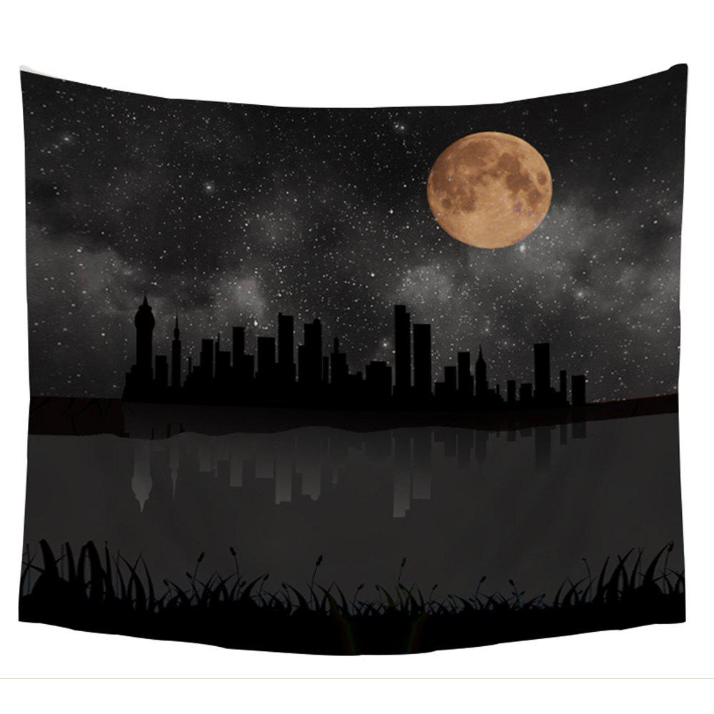 Moon Night City Pattern Wall Tapestry - COLORMIX W39.4INCH*L59.1INCH