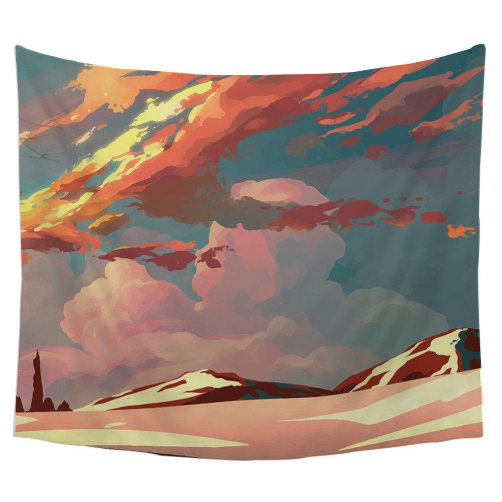 Cool Cartoon Wall Decoration Tapestry With Clouds - COLORMIX W39.4INCH*L59.1INCH