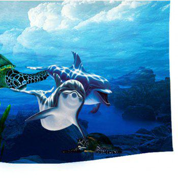 Marvelous Ocean Wall Decorative Tapestry Carpet Sofa Blanket - COLORMIX W39.4INCH*L59.1INCH