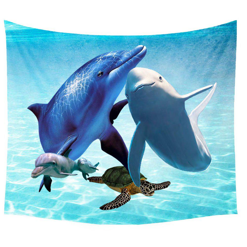 Sea Animal Wall Decoration Tapestry Carpet Beach Blanket - COLORMIX W39.4INCH*L59.1INCH