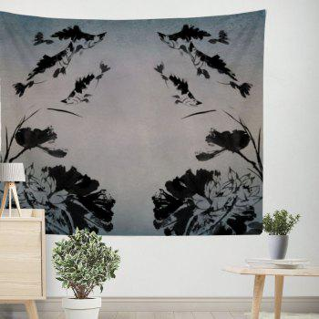 Chinese Abstract Ink Painting Tapestry Wall Decoration Sofa Beach Blanket Bedspread - COLORMIX W39.4INCH*L59.1INCH