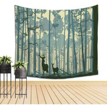Wall Elk Tapestry Sofa Beach Blanket - COLORMIX W39.4INCH*L59.1INCH