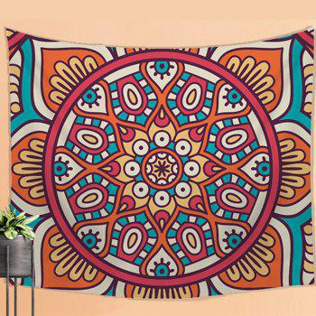 Traditional Retro Pattern Wall Hanging Tapestry  With Sofa Beach Blanket Bedspread - COLORMIX W39.4INCH*L59.1INCH
