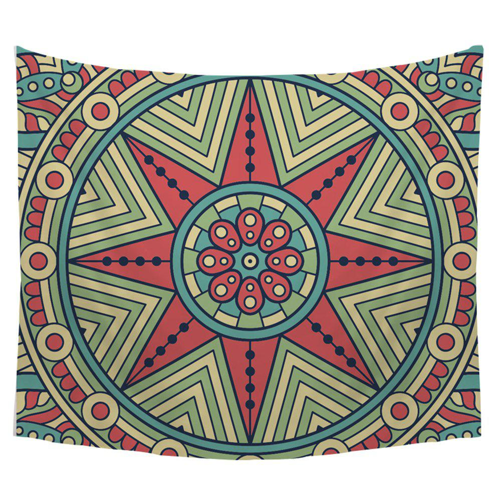 Lucky Star Wall Tapestry Decorated Sofa Beach Blanket Sheets - COLORMIX W39.4INCH*L59.1INCH