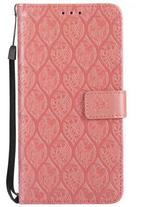 Cover Case for LG V20 Embossed Rattan Pattern PU Leather Wallet Case - ROSE GOLD