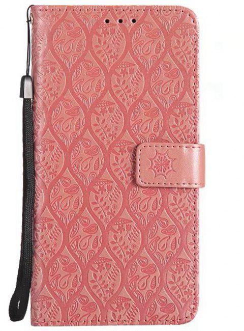 Cover Case for Huawei Mate 9 Embossed Rattan Pattern PU Leather Wallet Case - ROSE GOLD