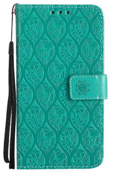Cover Case for Huawei P10 Embossed Rattan Pattern PU Leather Wallet Case - GREEN