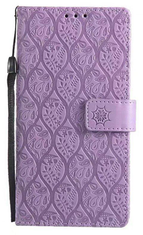 Cover Case for Sony Xperia E6 Embossed Rattan Pattern PU Leather Wallet Case - PURPLE