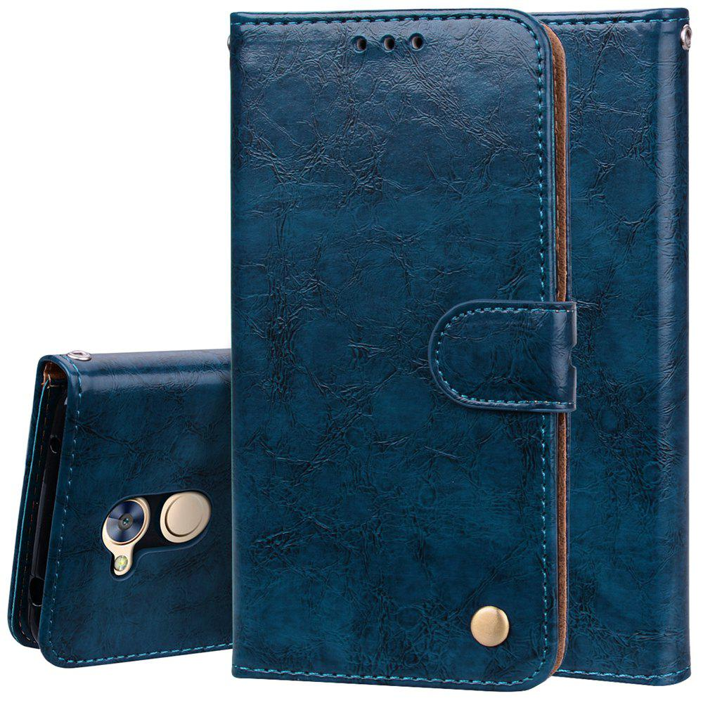 Cover Case For Huawei Honor 6A Oil Wax Pattern PU Leather Wallet Case - BLUE