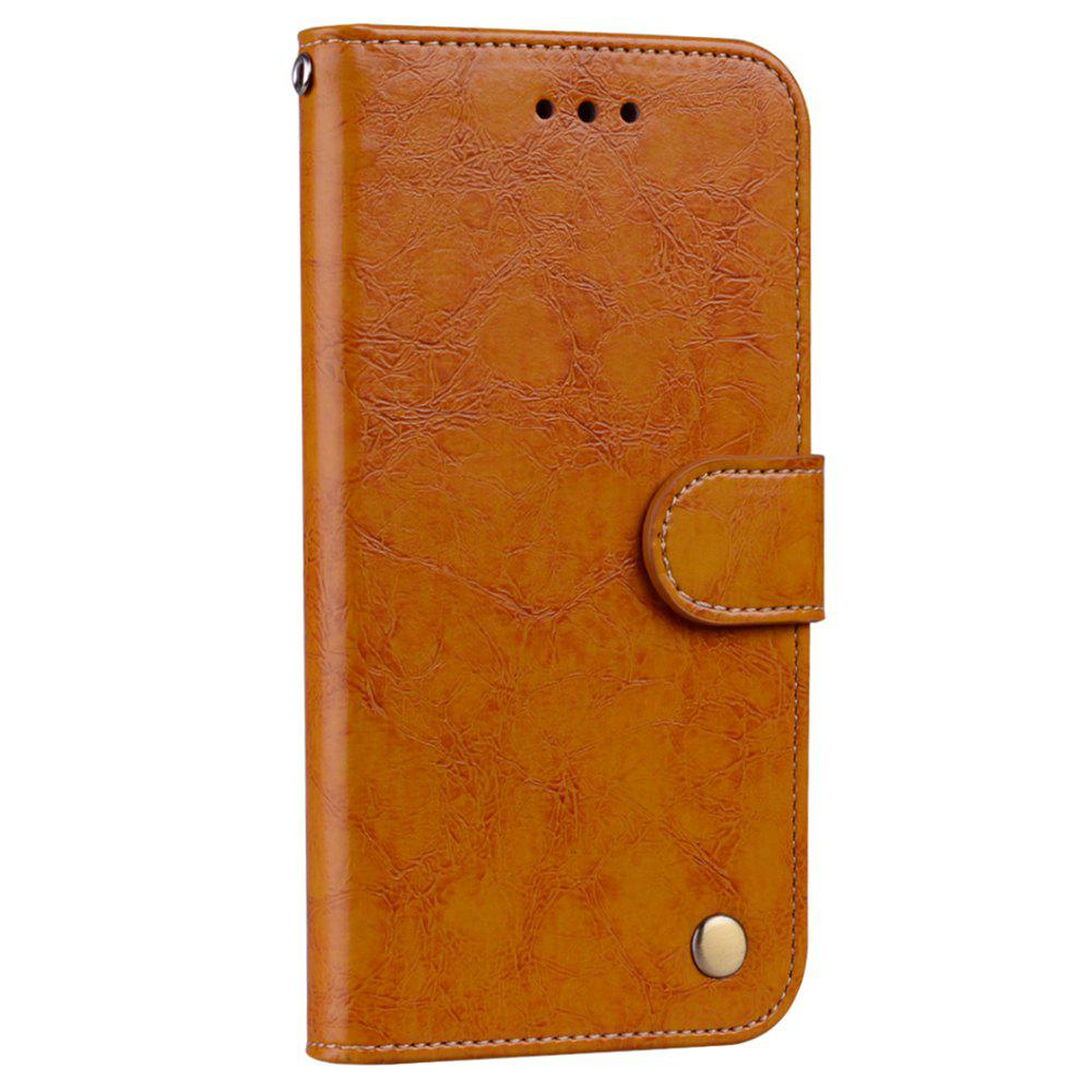 Cover Case For Xiaomi Redmi 4A Oil Wax Pattern PU Leather Wallet Case - YELLOW