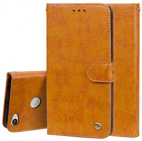 Cover Case For Xiaomi Redmi Note 5A Oil Wax Pattern PU Leather Wallet Case - YELLOW