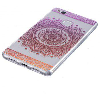 Mandala Flower Pattern TPU Silicone Gel Soft Clear Case Cover for Huawei P9 lite / G9 lite - CANDY CANE