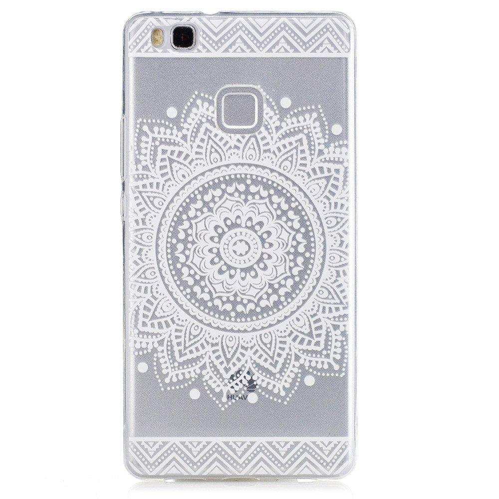 Mandala Flower Pattern TPU Silicone Gel Soft Clear Case Cover for Huawei P9 lite / G9 lite - WHITE