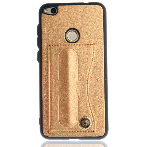 Leather Bracket Insert Card Cell Phone Shell For Huawei P8 Lite 2017 / Honor 8Lite Cases Cover Fashion Phone Case - GOLDEN