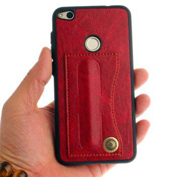 Leather Bracket Insert Card Cell Phone Shell For Huawei P9 Lite 2017 Cases Cover Extravagant Fashion Phone Case - RED