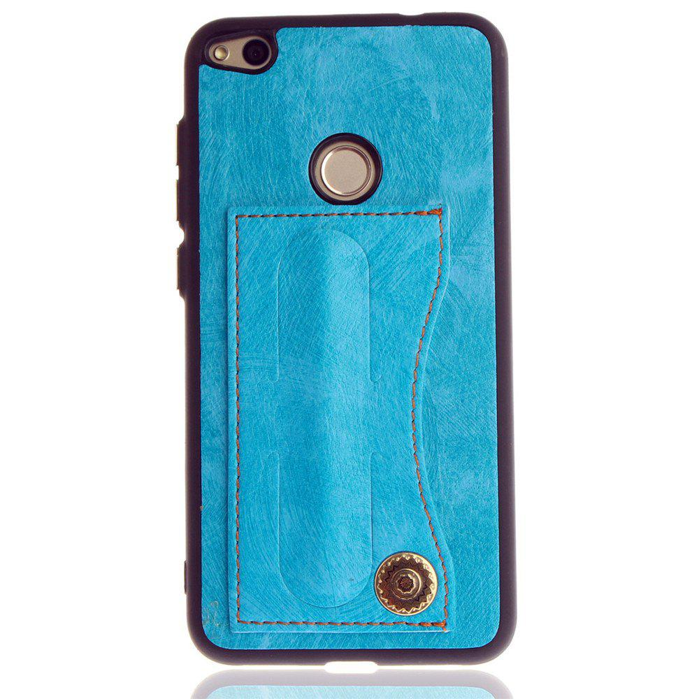 Leather Bracket Insert Card Cell Phone Shell For Huawei P9 Lite 2017 Cases Cover Extravagant Fashion Phone Case - WINDSOR BLUE
