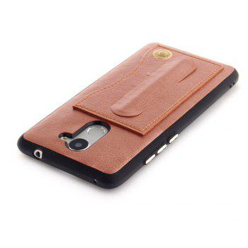 Leather Bracket Insert Card Cell Phone Shell For Huawei Y7 Prime / Huawei Enjoy 7 Plus Case Fashion Bracket Phone Case - ROSE GOLD