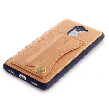 Leather Bracket Insert Card Cell Phone Shell For Huawei Y7 Prime / Huawei Enjoy 7 Plus Case Fashion Bracket Phone Case - GOLDEN