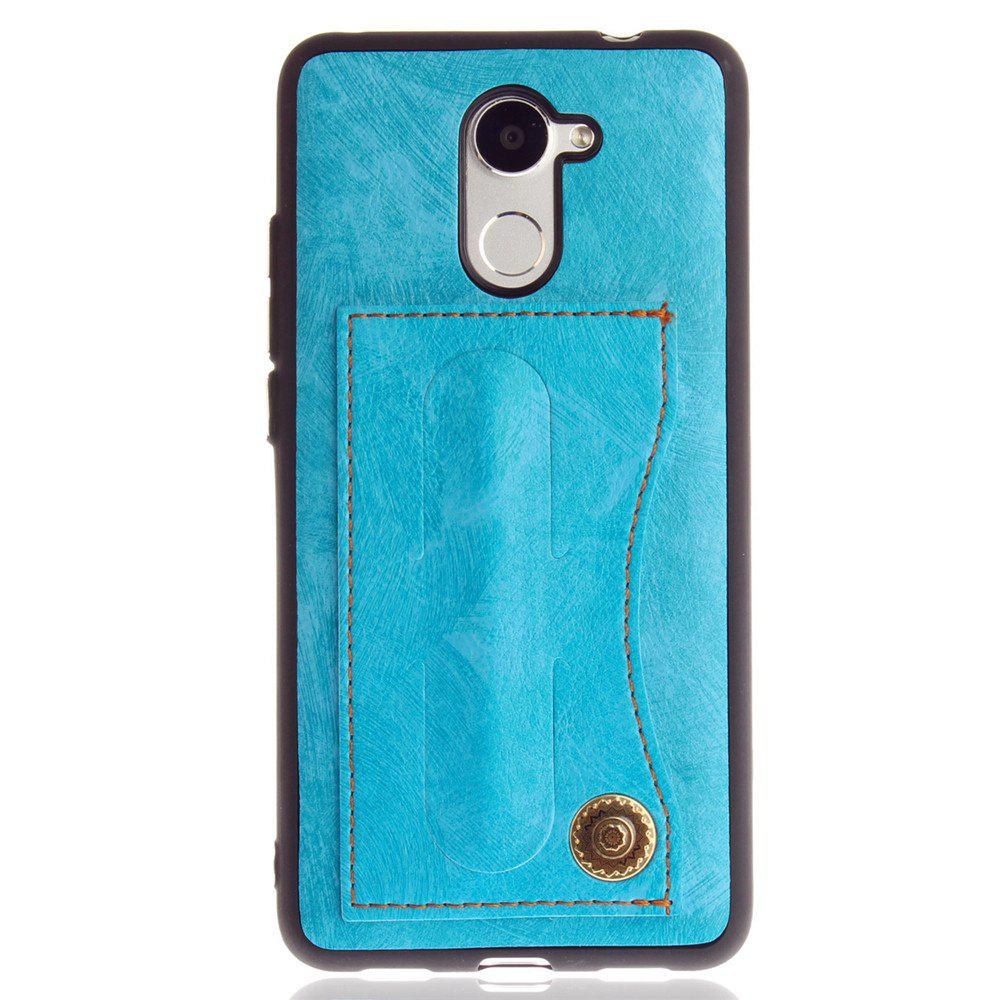 Leather Bracket Insert Card Cell Phone Shell For Huawei Y7 Prime / Huawei Enjoy 7 Plus Case Fashion Bracket Phone Case - WINDSOR BLUE