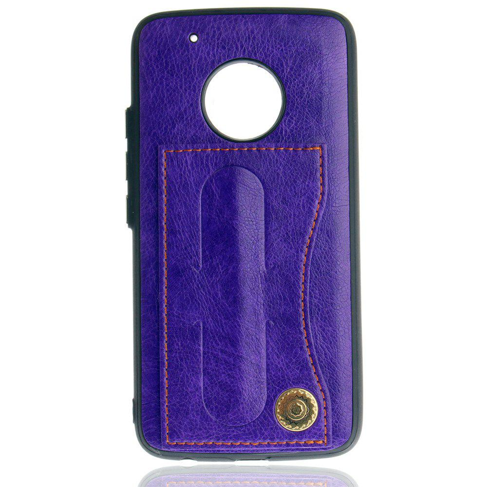 Leather Bracket Insert Card Cell Phone Shell For Motorola Moto G5 Plus Cases Cover Fashion Bracket Phone Case - TAHITI