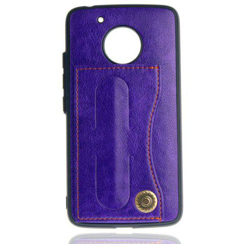 Leather Bracket Insert Card Cell Phone Shell For Motorola Moto G5 Cases Cover Extravagant Fashion Bracket Phone Case - TAHITI