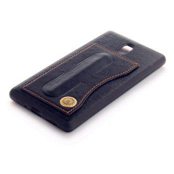 Leather Bracket Insert Card Cell Phone Shell for Nokia 3 Cases Cover Extravagant Fashion Case - BLACK