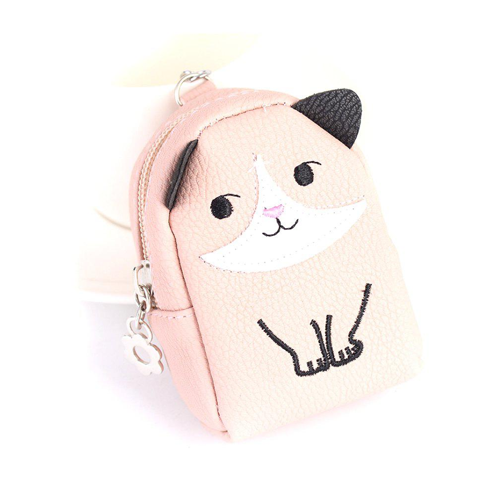 Mini Purse Pendant Creative Kitty Car Keychain Exquisite Bag Strap - PINK