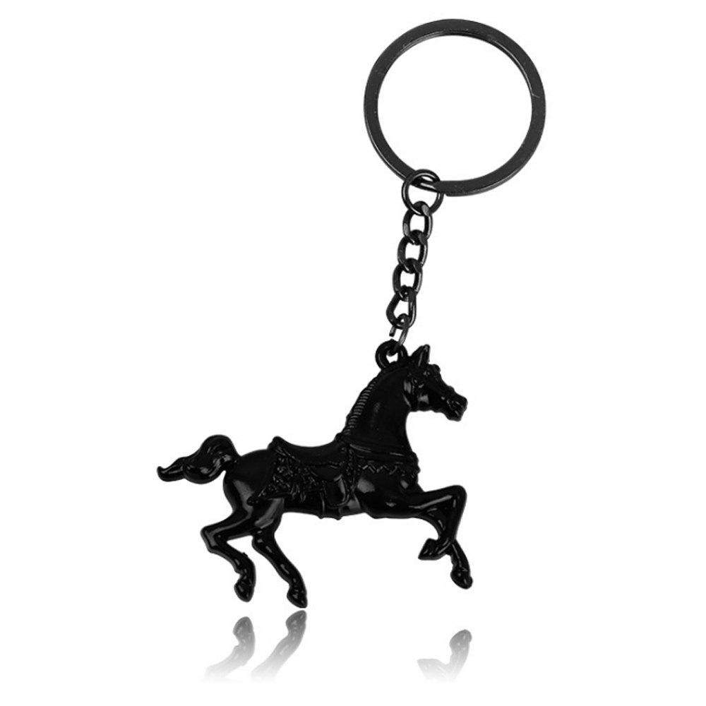 Creative Men Horse Strap Keychain - BLACK