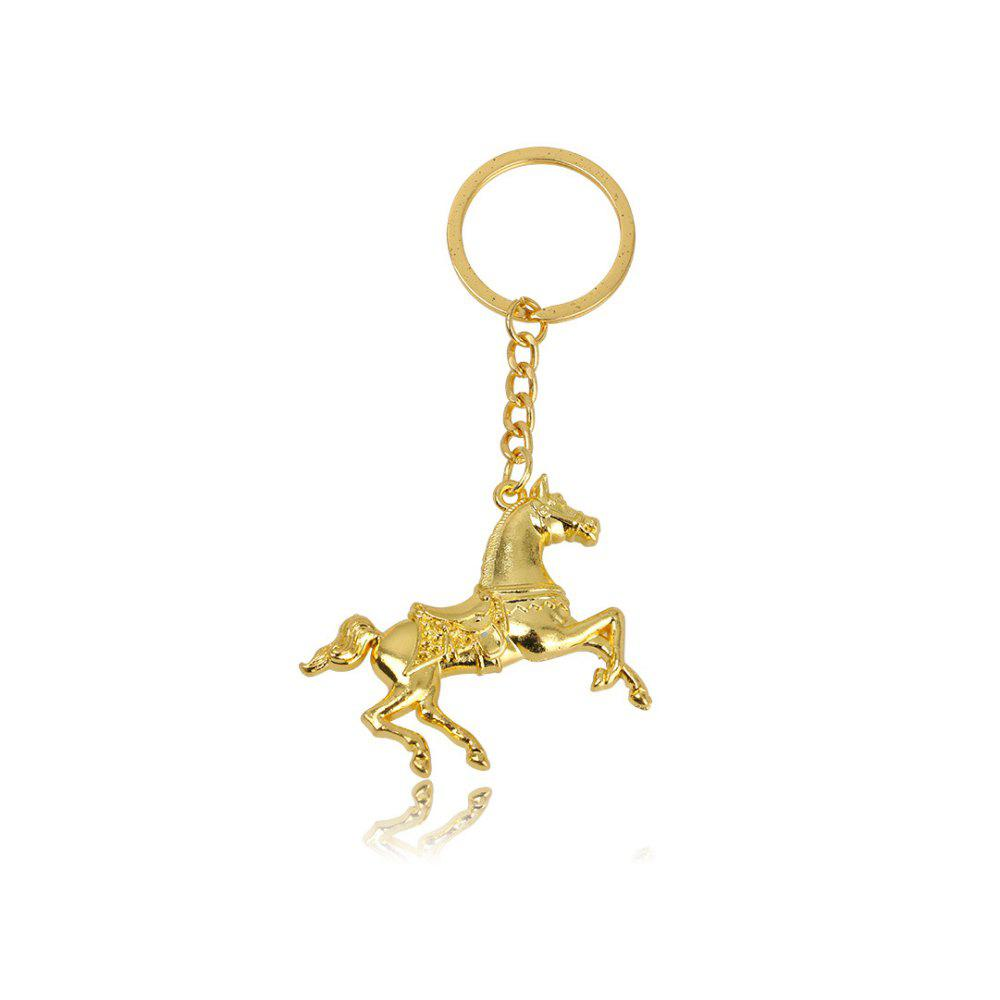 Creative Men Horse Strap Keychain - GOLDEN