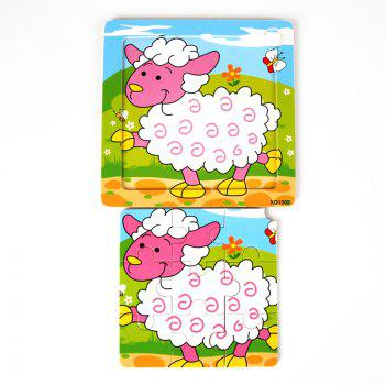 Children Jigsaw Puzzle Toy Sheep - COLORMIX