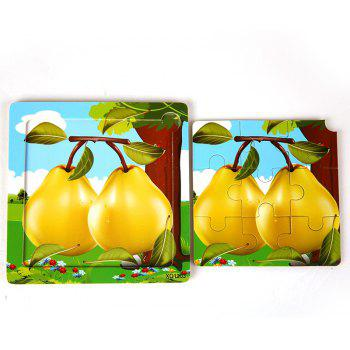 Children Jigsaw Puzzle Toy Pear - COLORMIX