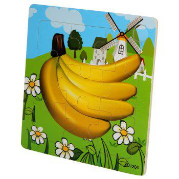Children Jigsaw Puzzle Toy Banana - COLORMIX