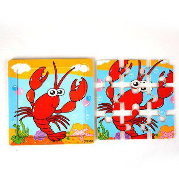 Children Jigsaw Puzzle Toy Lobster - COLORMIX