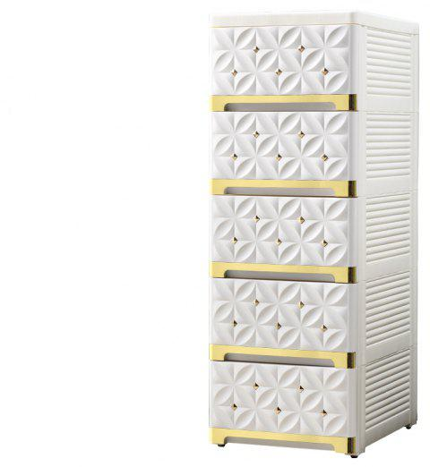 Baby Wardrobe Lockers  Drawer Storage Box - WHITE/GOLDEN