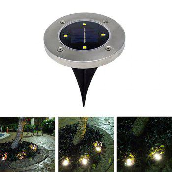 BRELONG 4LED Solar Buried Lights Outdoor Lawn Lamp 1PC - WARM WHITE