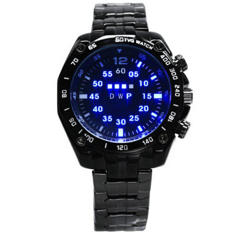 TVG Stainless Steel Led Digital Watch Men Fashion Men Sports Watches - BLACK